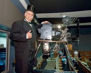 Hand cranked projector by Joe Rinauldo