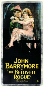 The_Beloved_Rogue starring john barrymore with live music by Cliff Retallick